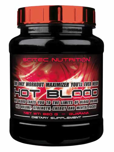 Hot Blood de Scitec Nutrition - 820g cortesía de InfoCulturismo.com